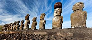 photo des statues de l'Île de Pâques