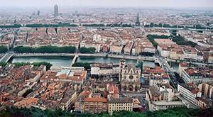 La ville de Lyon en France