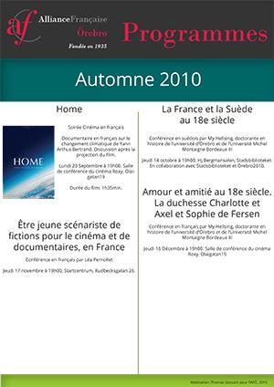 programme français automne 2010