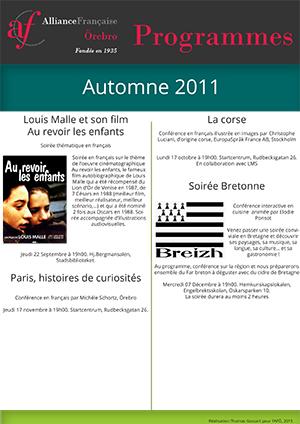 programme en français automne 2011