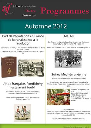 programme français AFÖ automne 2012