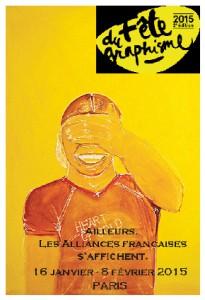 Affish för grafik formfestivalen där Alliance française i Örebro deltog