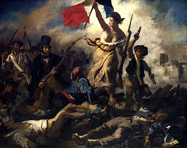 Den mycket kända franska tavlan la liberté guidant le peuple