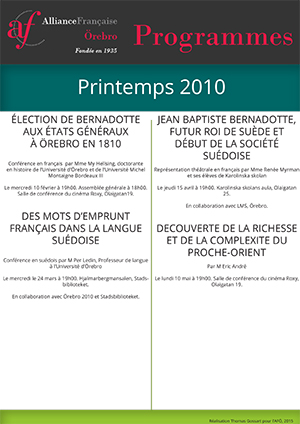 programme français printemps 2010 AFÖ