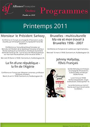 programme en français printemps 2011 AFÖ