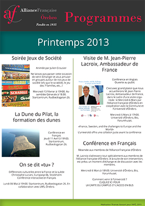 programme français printemps 2013 AFÖ